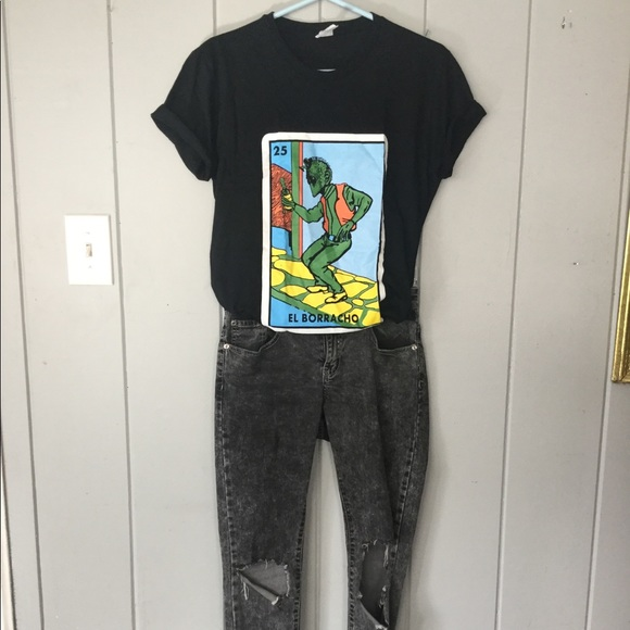 tops screen print tee el borracho loteria star wars poshmark